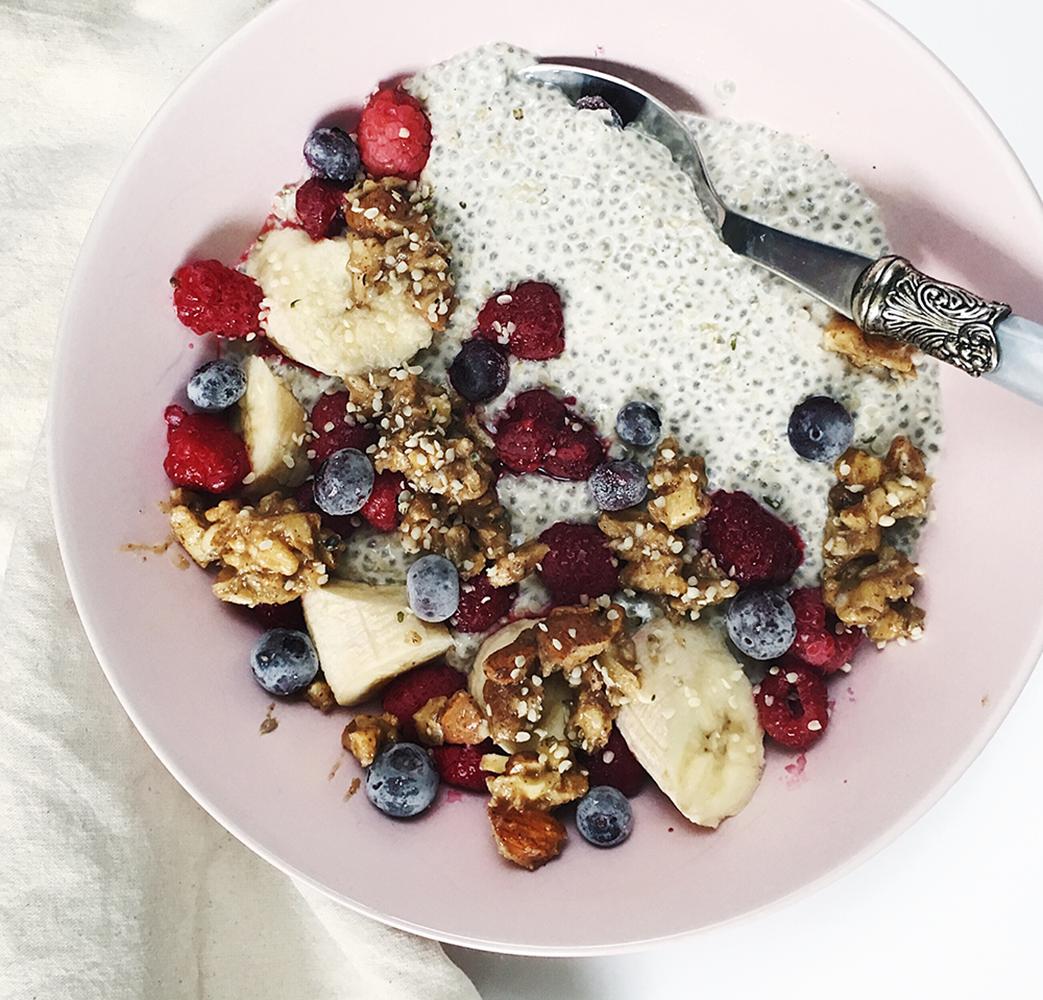 Chia puding sa voćem i granolom