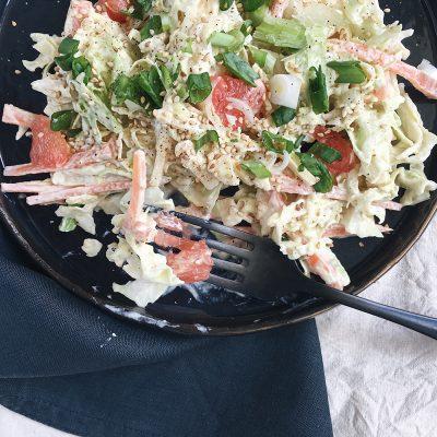 Kupus salata sa crvenim grejpom